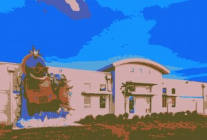 cartoon image of our building